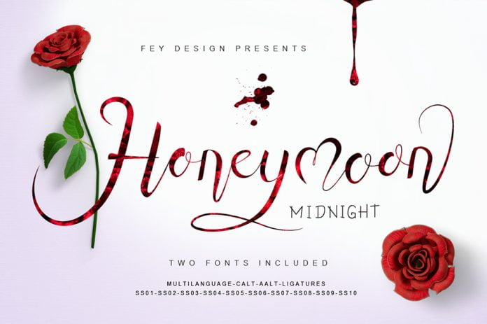 Honey Moon Midnight Font