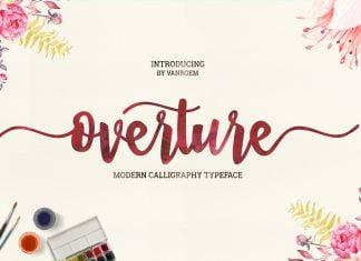 Overture Script Font