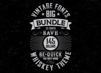 Whiskey Fonts BIG Bundle