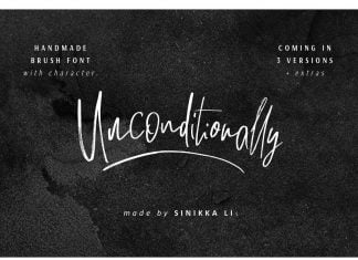 Unconditionally Font