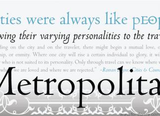 Metropolitan Font