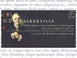 1785 GLC Baskerville Family Font