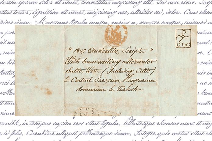 1805 Austerlitz Script Font