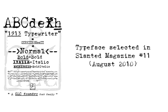 1913 Typewriter Font
