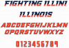 NCAA Illinois Fighting Illini font
