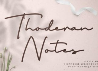Thoderan Notes Font