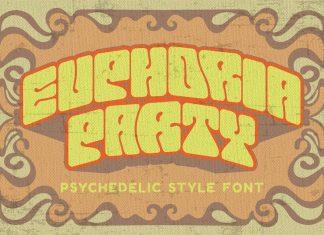 Euphoria Party - Psychadelic Retro Typeface