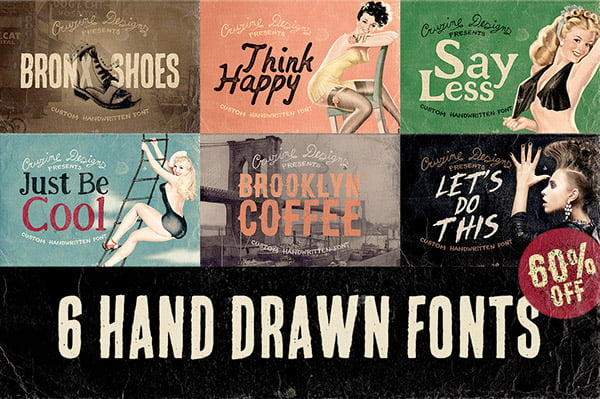 6 Hand Drawn Fonts
