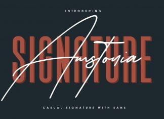 Amstonia Signature Font