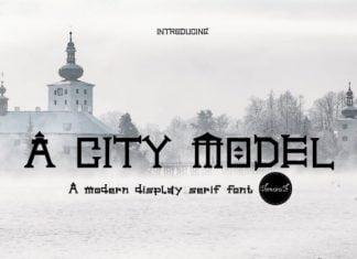 A City Model Font