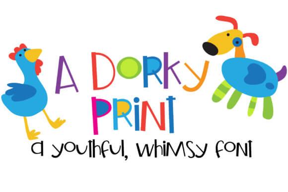 A Dorky Print Font
