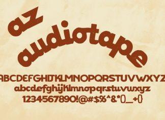 AZ Audiotape Font