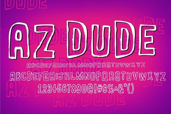 AZ Dude Font