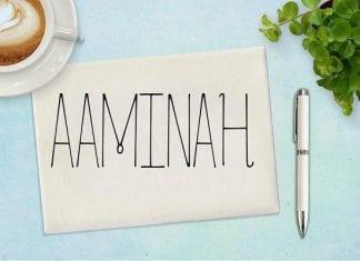 Aaminah Font