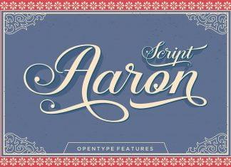 Aaron Script Font