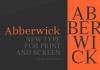Abberwick Font