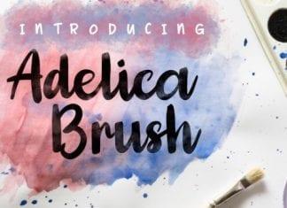 Adelica Brush Font