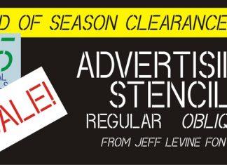 Advertising Stencil JNL Font