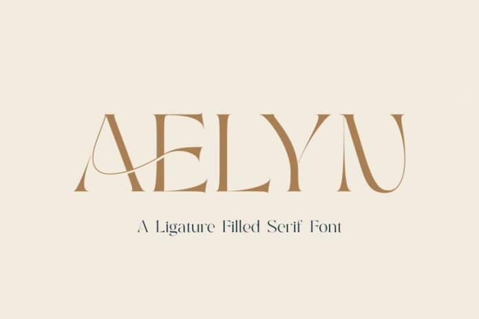 Aelyn - A Ligature Filled Serif Font