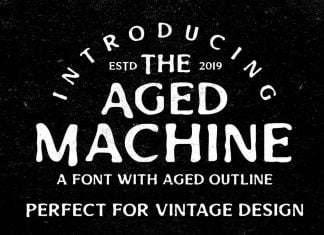 Aged Machine - Vintage Font