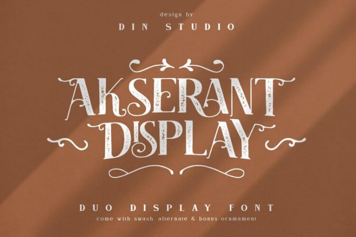 Akserant Display Font