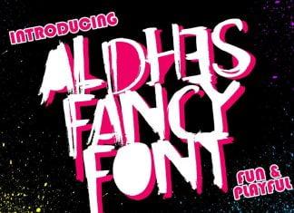 Aldhes Fancy Font