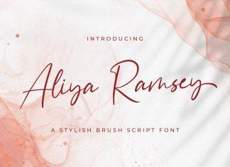 Aliya Ramsey - Handwritten Font