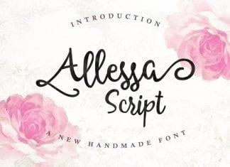 Allessa Script Font