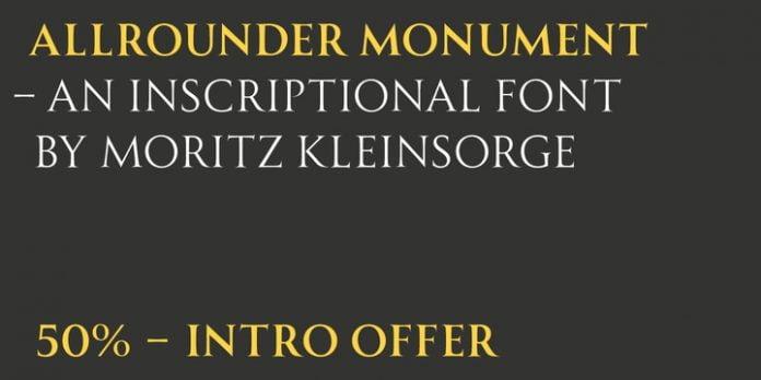 Allrounder Monument Font