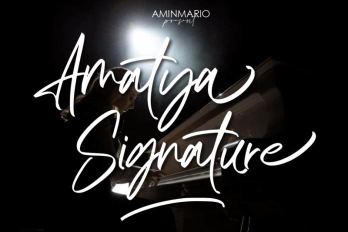 Amatya Signature Font