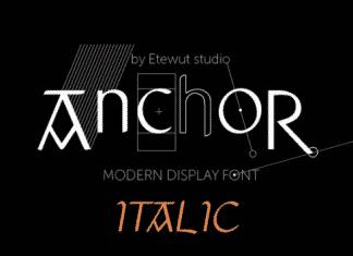 Anchor Italic Font