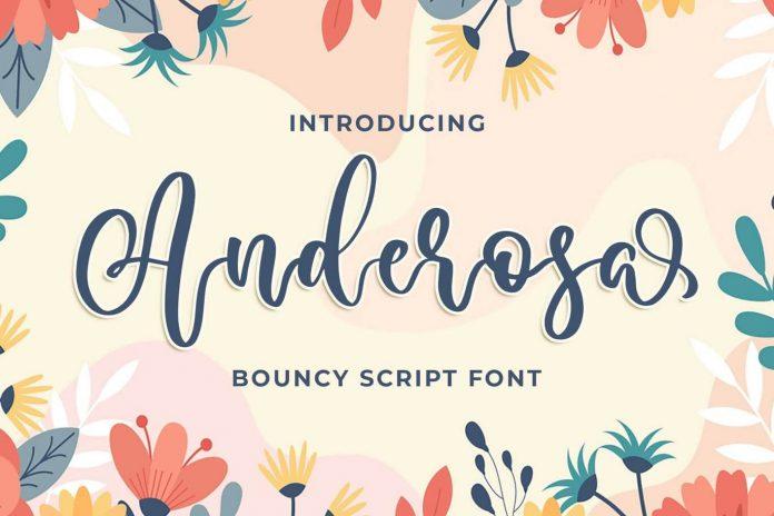 Anderosa - a Bouncy Script Font