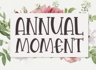 Annual Moment Font