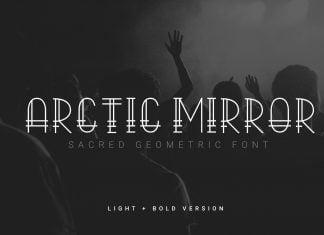 Arctic Mirror Font