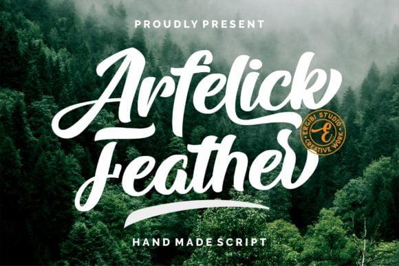 Arfelick Feather Font