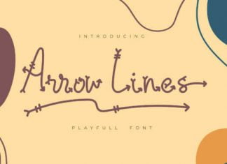 Arrow Lines Font