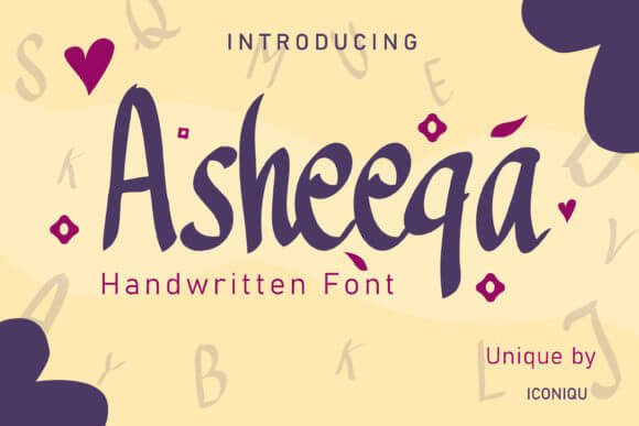 Asheeqa Font