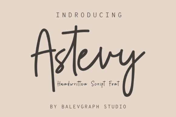 Astevy Font