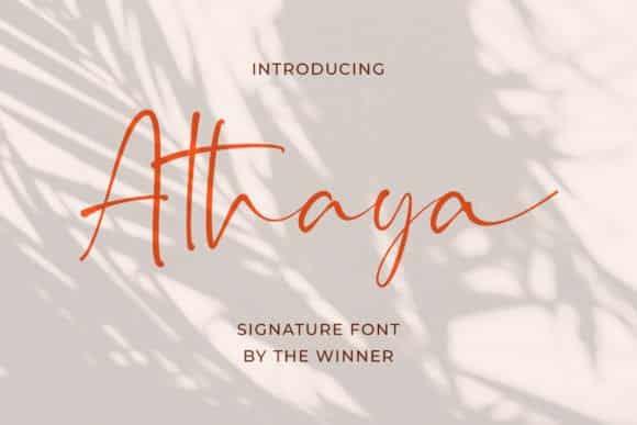 Athaya Font