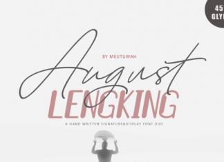 August Lengking Duo Font