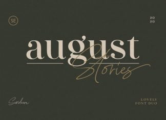 August Stories - LOVELY FONT DUO