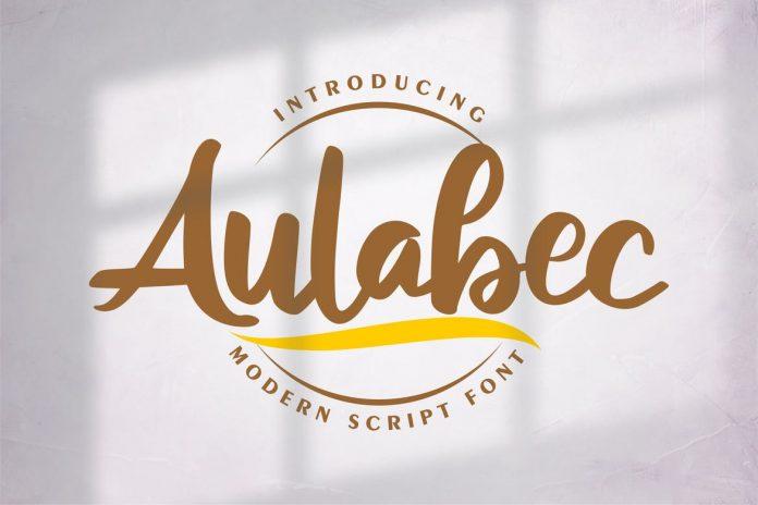 Aulabec Modern Script Font
