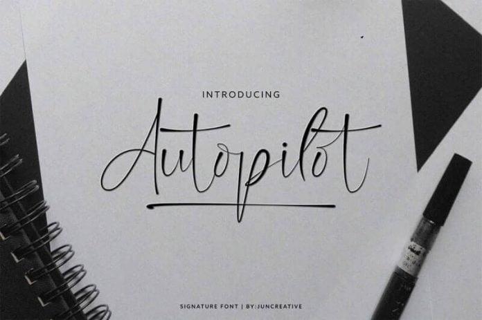 Autopilot Signature - Handwritten Script Font