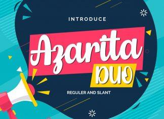 Azarita Duo Regular & Slant Font