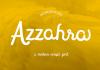 Azzahra Script Font