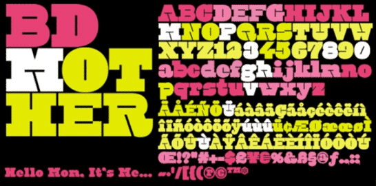 BD Mother Font