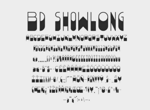 BD Showlong Font