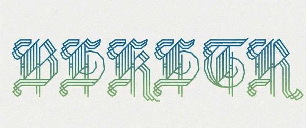 BLKLTR Font