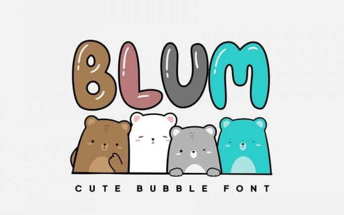 BLUM - Cute & Lovely Bubble Font