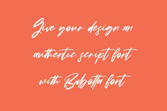 Babotta Font